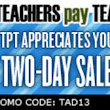 The TeachersPayTeachers Appreciation Sale