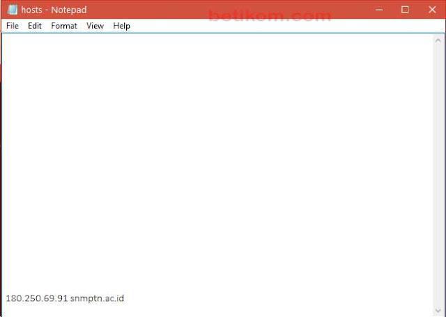 Menambahkan hosts untuk masuk web yang sibuk