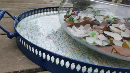 Nautical Map Tray by My Thrifty House