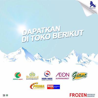 frozen air mineral sponsor pertandingan Indonesia lawan Islandia