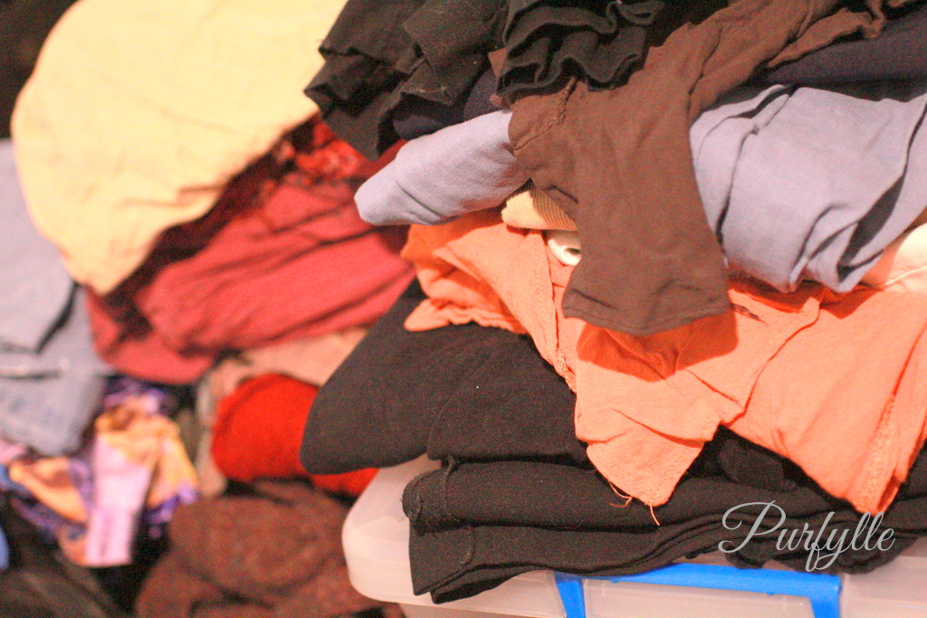 decluttered clothes for donating