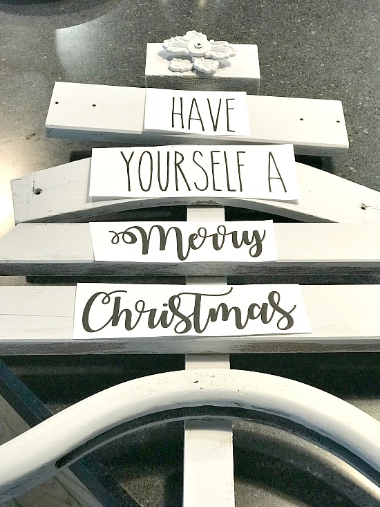 DIY Letter transfer Scrap Wood Christmas Tree. Homeroad.net