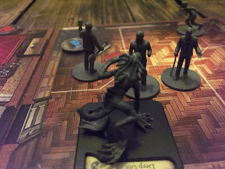 The investigators are attacked by a Deep One!