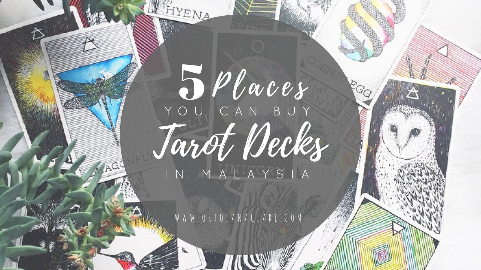 5 Places You Can Buy Tarot Decks In Malaysia Ortolana Clare