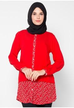 Baju Kantor Batik Wanita Muslimah Modern