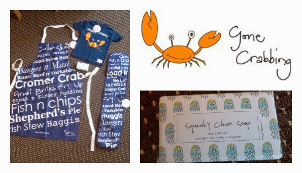 Yorkshire Blog, Mummy Blogging, Parent Blog, Gone Crabbing, Oven gloves, Apron, T-shirt, Soap, Review,