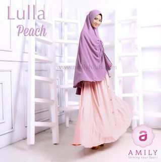 Gamis Amily Lulla Dress Peach