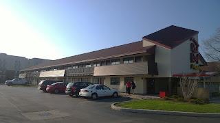 A motel facade