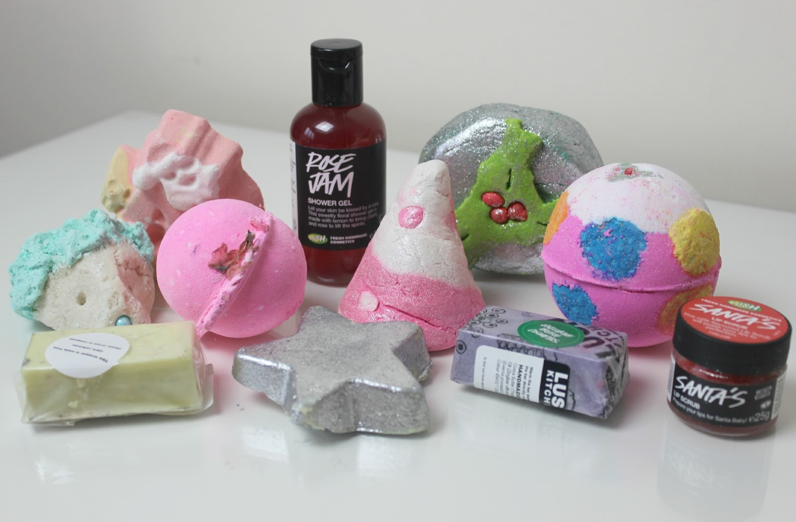 A picture of the Lush Christmas Collection
