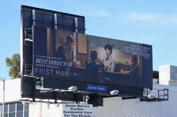 First Man film consideration billboard