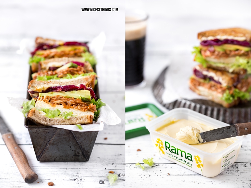 Vegane Jackfruit Sandwiches mit Rama