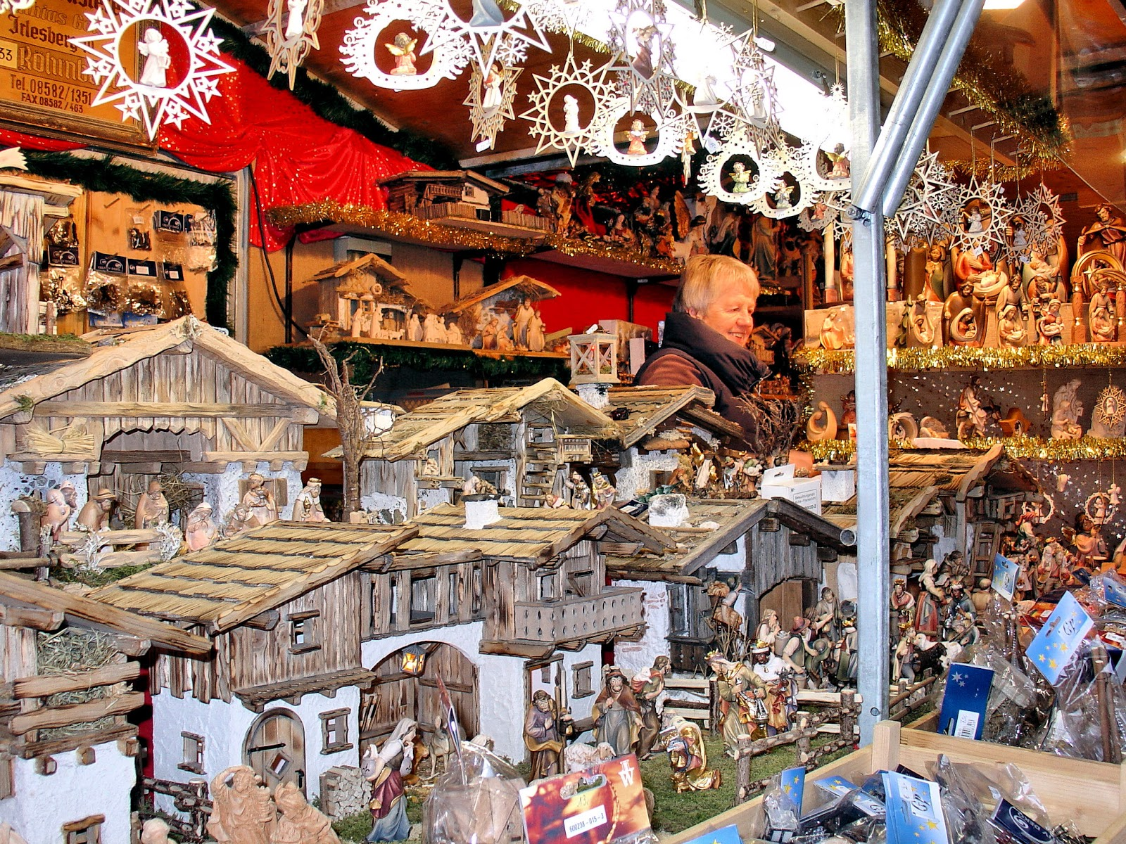 so many wonderful handcrafted gifts fill the alpine chalets at passau christmas market photo