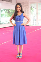 Divya Nandini stunning Beauty in blue Dress at Trendz Exhibition Launch ~  Celebrities Galleries 087.JPG
