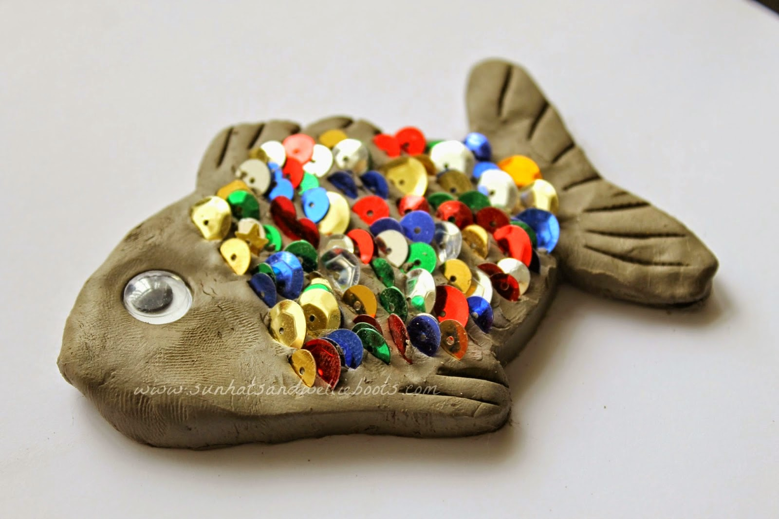 sequin rainbow fish crafty activity clay from sun hats and wellie boots