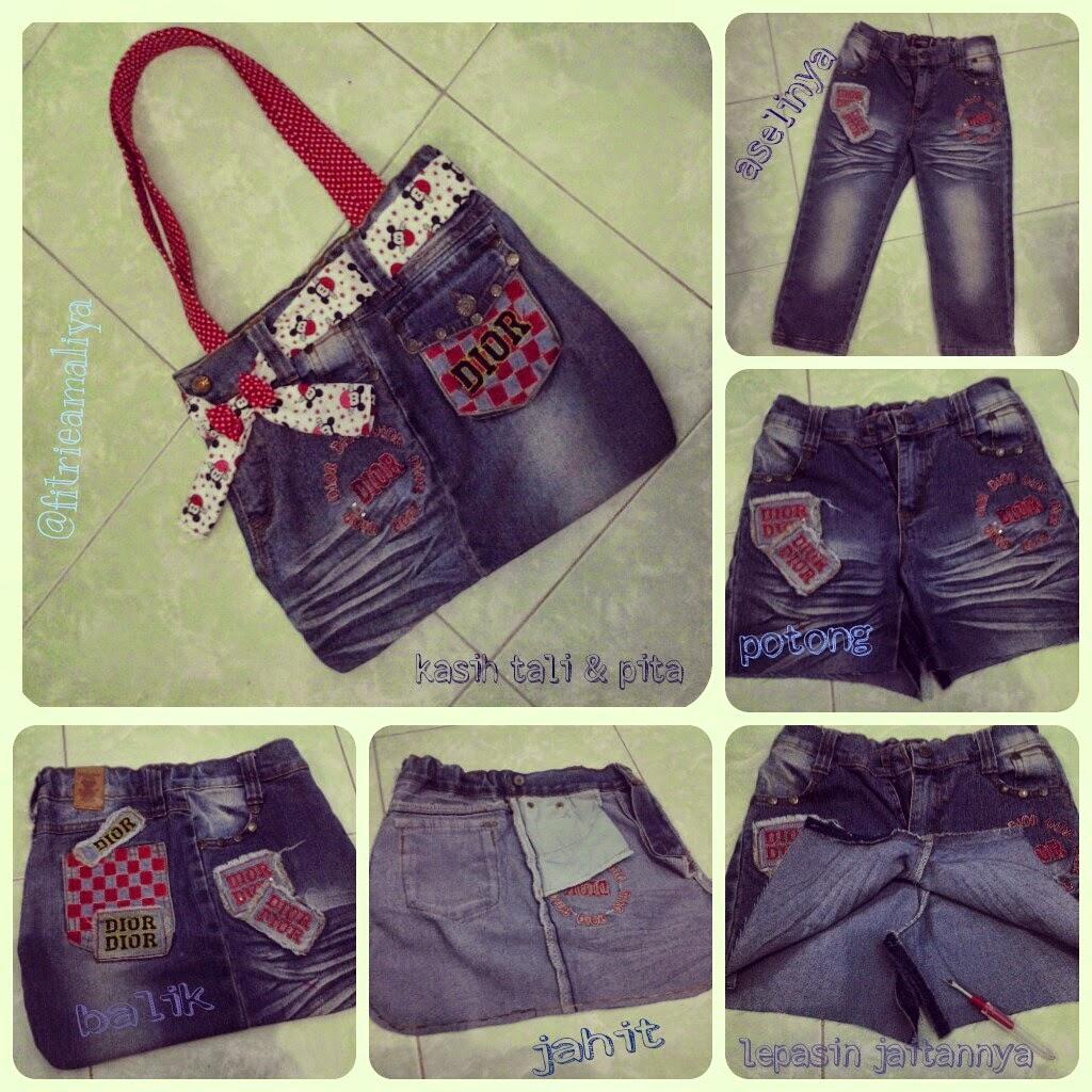 hobby dan kreasi  Tas Lucu dari Jeans Bekas a347209f29