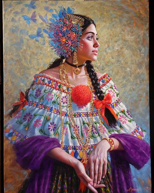 """""""LA ENCANTADORA""""  Luis Córdoba Pintor Panameño,"""