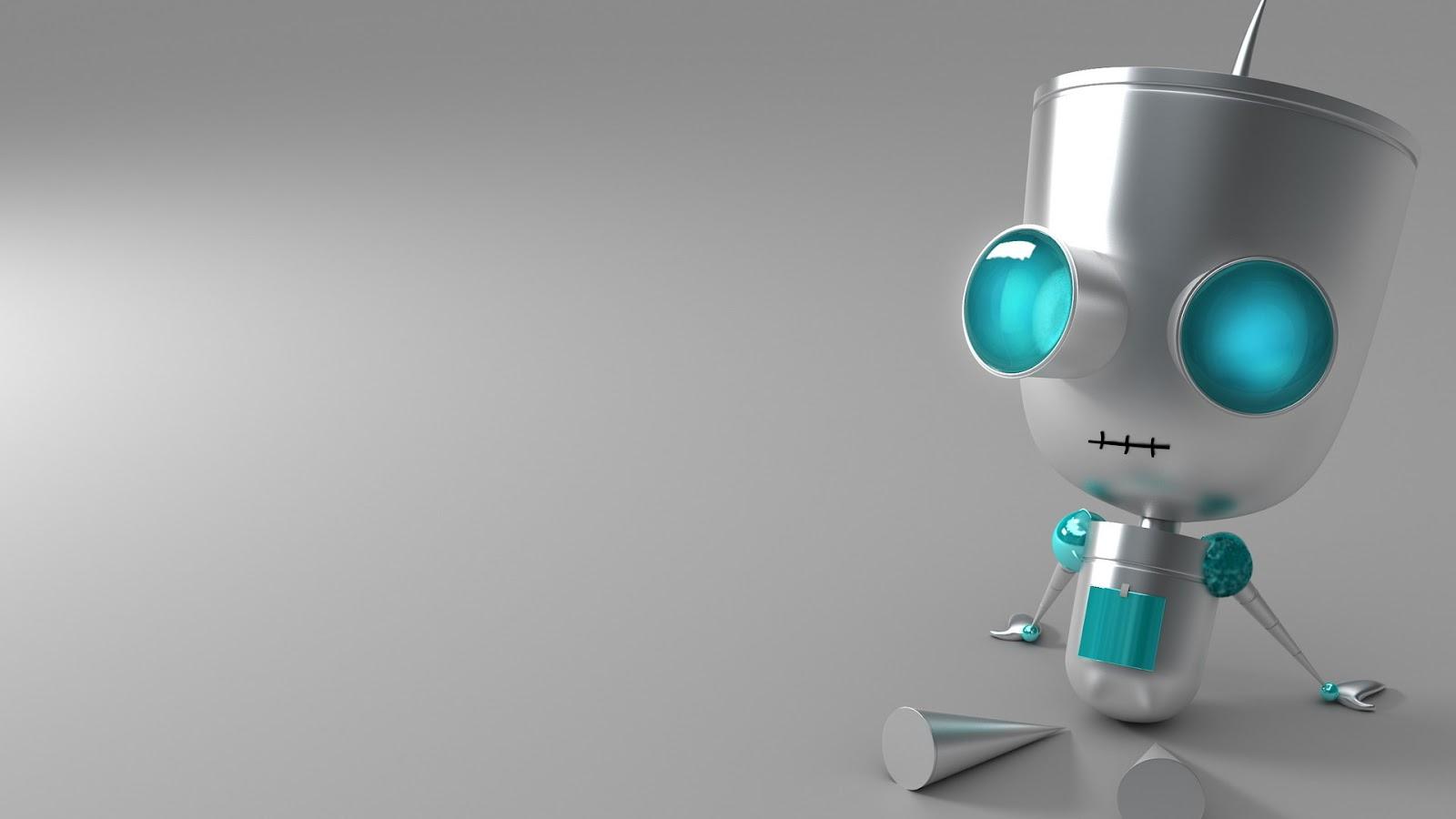 Kinds Of Wallpapers: Cute Robot Wallpaper