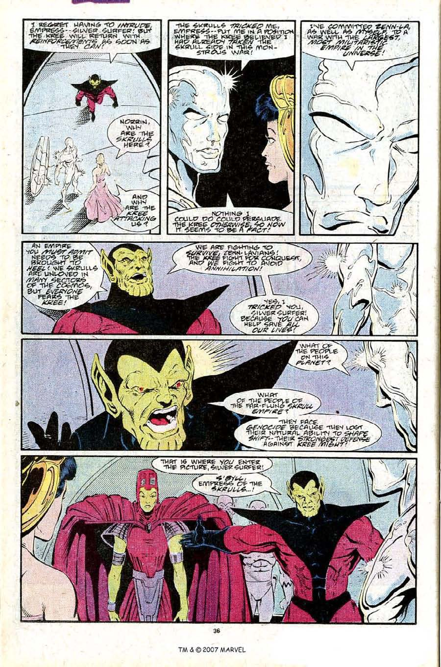 Read online Silver Surfer (1987) comic -  Issue #25 - 38