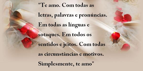"""Belas Frases De Amor Maio 2016: Belas Frases De Amor: """"Te Amo. Com Todas As Letras"""
