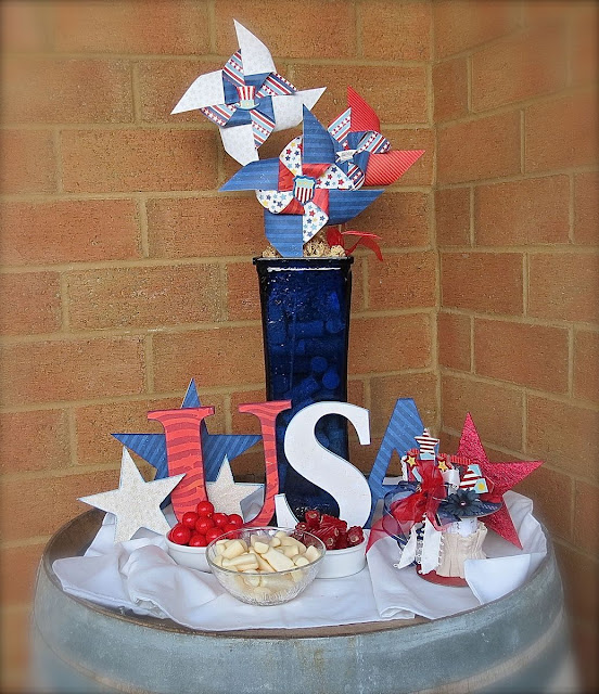 4th July Party Decor by Megan Gourlay for BoBunny using Firecracker