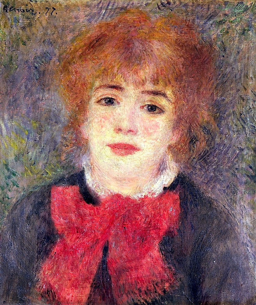 Portrait of a Young Woman - Pierre-Auguste Renoir ... |Renoir Portraits