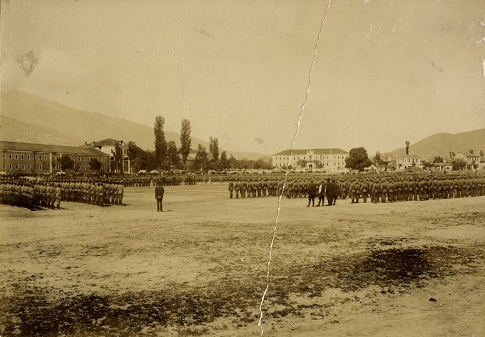Serbian soldiers in Bitola in 1913