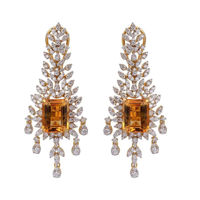 Diamond and Gemstone Earrings by Velvetcase.com