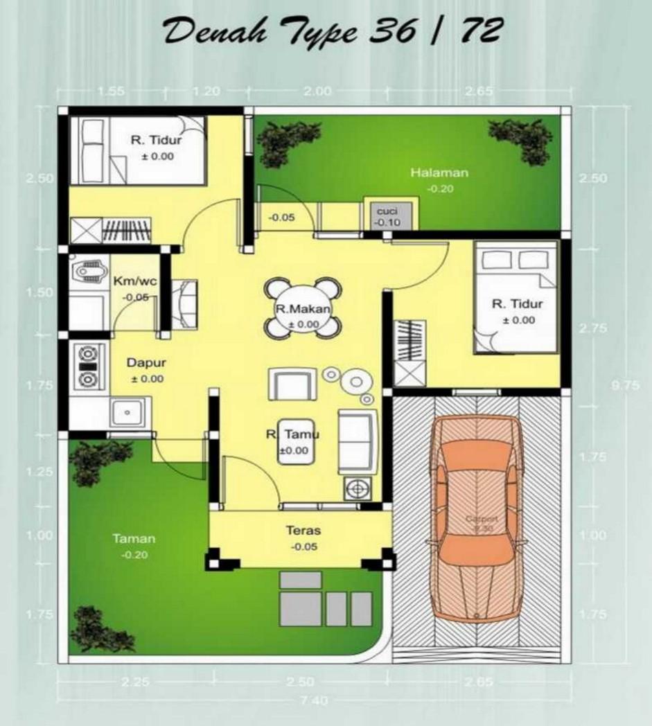 Contoh Gambar Desain Rumah 7x10 Informasi Desain dan