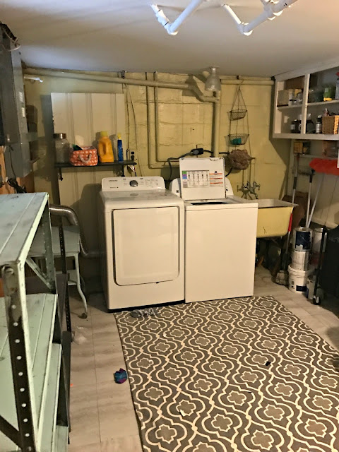 Budget Laundry Room Makeover: The Before