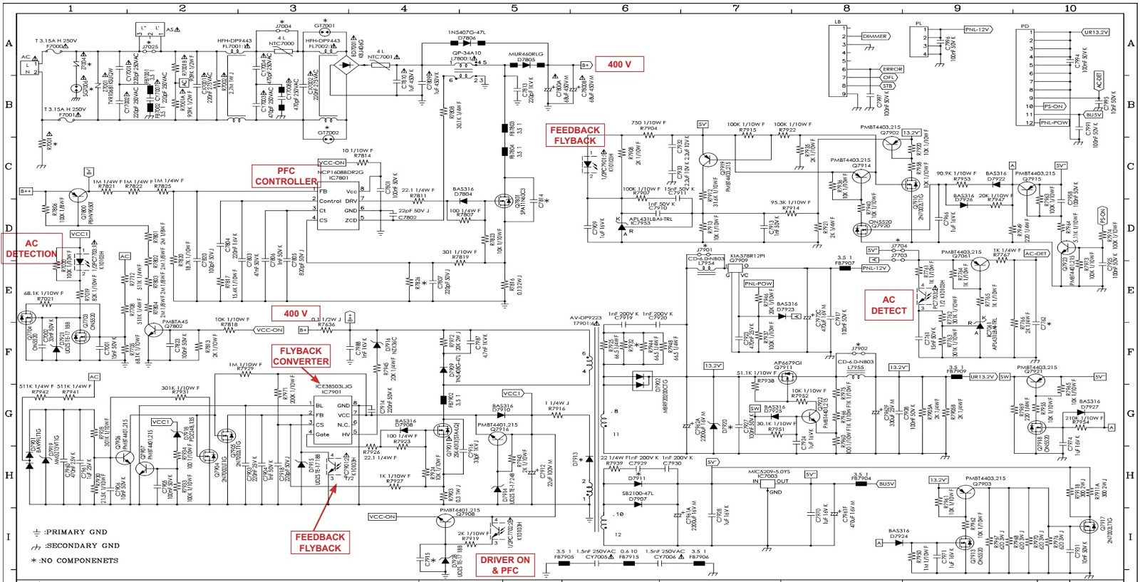 Electro Help  Sharp Lc40le811 40 Inch Led Tv  U2013 Power Board Schematic Dps