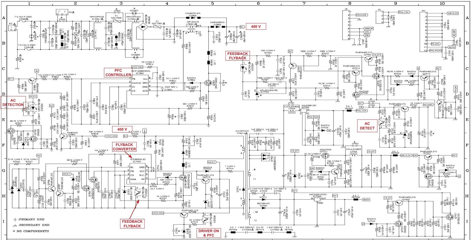 Electro Help  Sharp Lc40le811 40 Inch Led Tv  U2013 Power Board