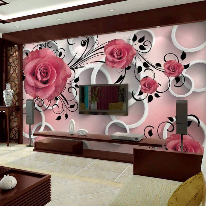Amazing Patterns Wallpapers Design For Living Room Canada