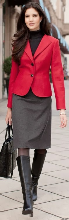 Depending On Your Office Dress Code Tall Boots May Or Not Be A Deal Breaker When It Comes To Professionalism Is Best Pair Them With Skirt