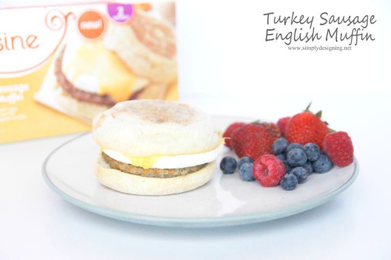 Turkey Sausage English Muffin | #foodmadesimple #shop #breakfast