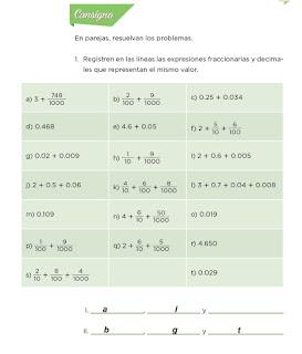 Respuestas Apoyo Primaria Desafíos Matemáticos 4to. Grado Bloque IV Lección 73 Son equivalentes