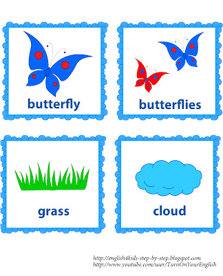 summer flashcards alongside words for learning summertime vocabulary