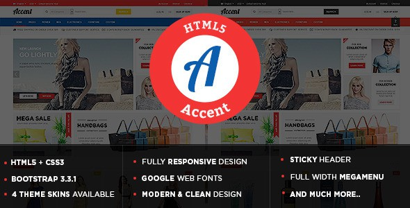 Accent Responsive eCommerce HTML5 Template