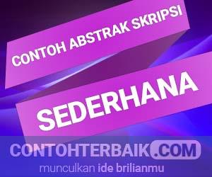 Contoh Abstrak Skripsi