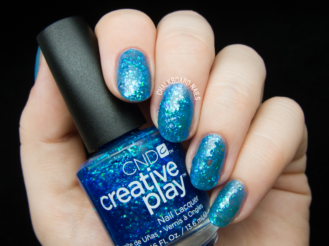 CND Creative Play - Turquoise Tidings @chalkboardnails