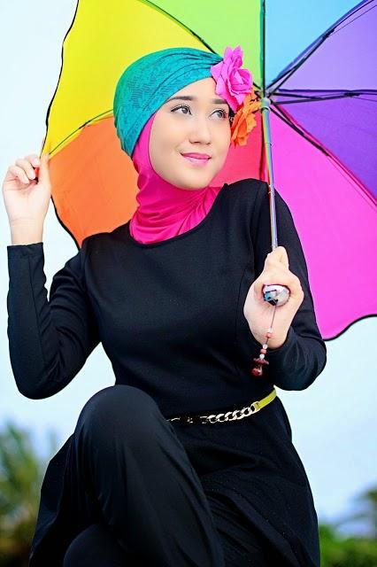 Desain Baju Renang Muslimah Dian Pelangi