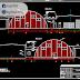 مشروع حظيرة hangar نصف دائرة من الهياكل المعدنية اوتوكاد dwg