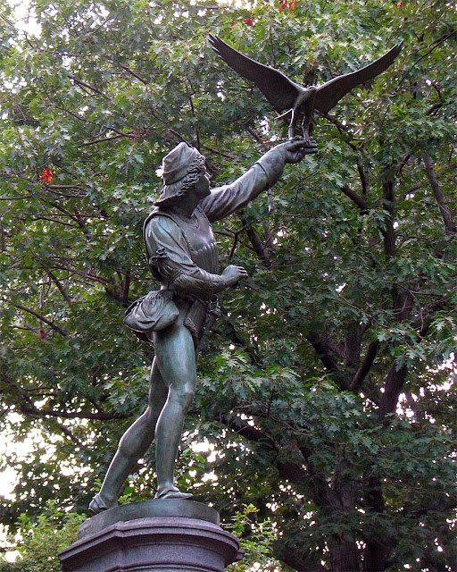 The Falconer by George Blackall Simonds, Central Park, New York