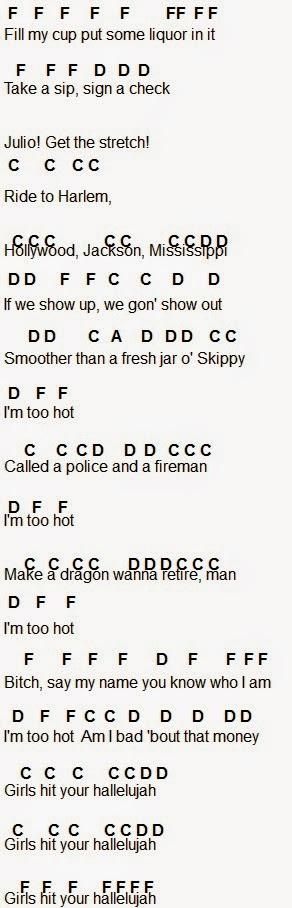 Piano uptown funk piano chords : Flute Sheet Music: Uptown Funk
