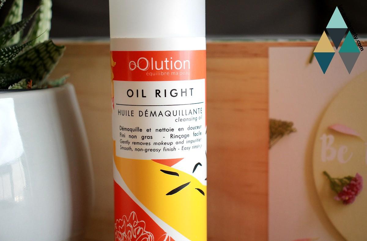 avis et test huile démaquillant Oil right naturelle bio Oolution