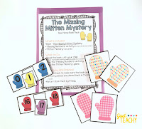 The Missing Mitten Mystery Take Home Book Pack, www.JustTeachy.com