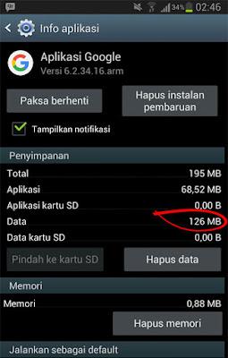 aplikasi google dalam info aplikasi android