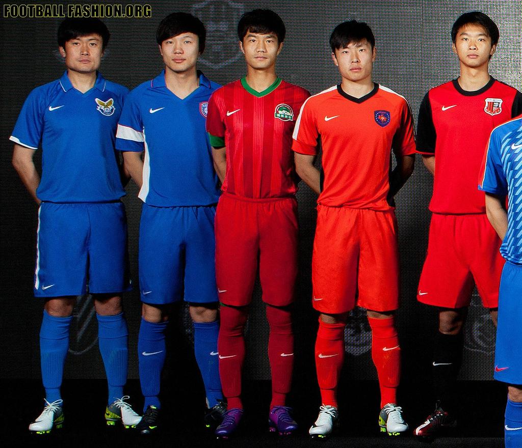 bc232597e3 Nike apresenta uniformes dos clubes chineses para 2012 - Show de Camisas