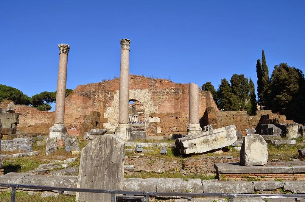 I viaggi di raffaella roma il foro romano sezione for Aggiornare le colonne del portico