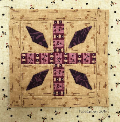 Dear Jane Quilt - Block B5 Hot Cross Buns