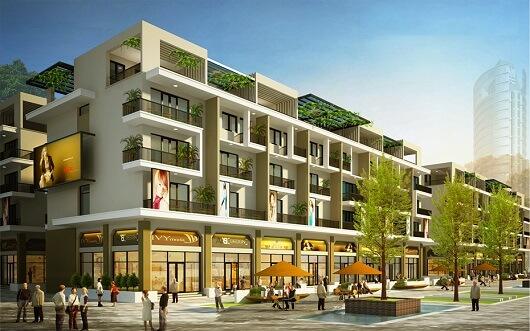 Phối cảnh nhà phố thương mại Mon Bay Hạ Long
